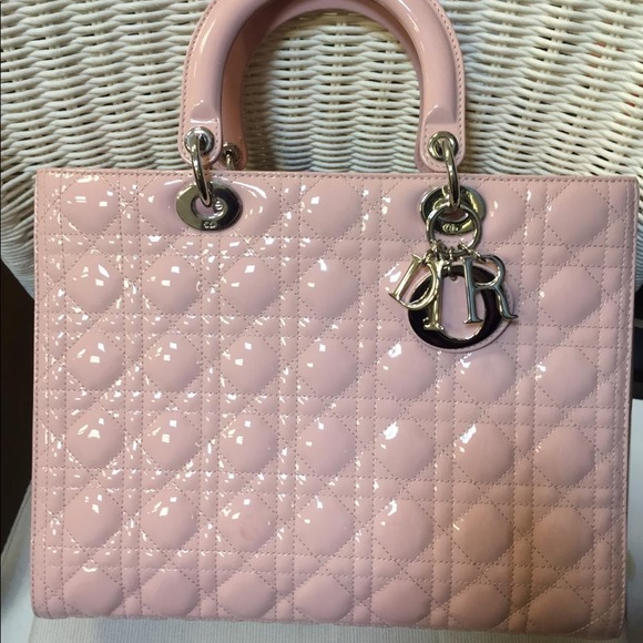 27e09fc554 Lady Dior Bag Pink Patent Leather.FINAL PRICE❌